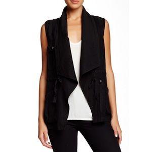 Sanctuary Black Traveller Linen Blend Vest